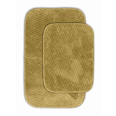 Garland Rug Cabernet Bath Rug (Set of 2); Linen