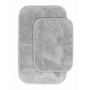 Garland Rug Cabernet Bath Rug (Set of 2); Platinum Gray
