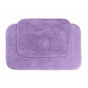 Garland Rug Glamor Bath Rug (Set of 2); Purple