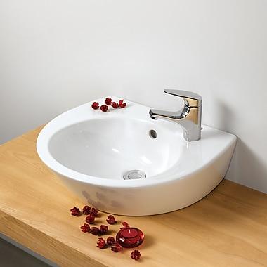 Bissonnet Universal Pop 36 Porcelain 20'' Wall Mounted Bathroom Sink w/ Overflow