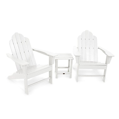 POLYWOOD Long Island 3 Piece Adirondack Seating Group