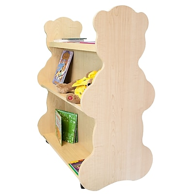 Ace Baby Furniture Bear Mobile Double Sided 41.5'' Bookcase; Natural Maple