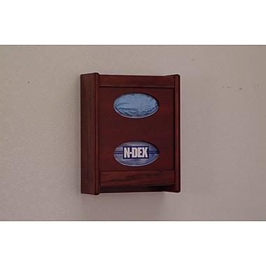 Wooden Mallet Tissue Box Cover; Mahogany