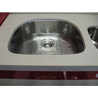 Ukinox Single Basin Stainless Steel Undermount Kitchen Sink