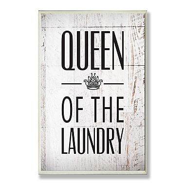 Stupell Industries Queen of the Laundry w/ Crown Typography Wall Plaque
