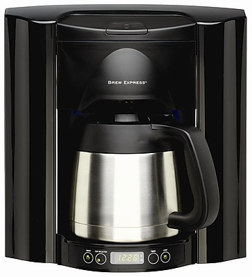 Brew Express 10 Cup Built-In Self-Filling Coffee and Hot Beverage System; Black WYF078275627621