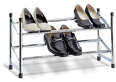 OIA Expandable 2-Tier Shoe Rack; Chrome