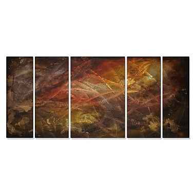 All My Walls 'From Above' by Megan Duncanson 5 Piece Graphic Art Plaque Set