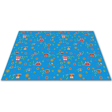 Kid Carpet Counting Owls w/ ABCs Kids Rug; 12' x 20'