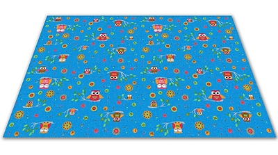 Kid Carpet Counting Owls w/ ABCs Kids Rug; Rectangle 12' x 20'