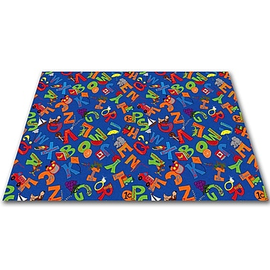 Kid Carpet I Know My ABC's Children's Bluei Area Rug; Rectangle 4' x 6'