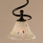 Toltec Lighting Capri Stem Mini Pendant w/ Hang Straight Swivel; Frosted