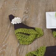Saro Crochet Lace Napkin (Set of 4); Apple