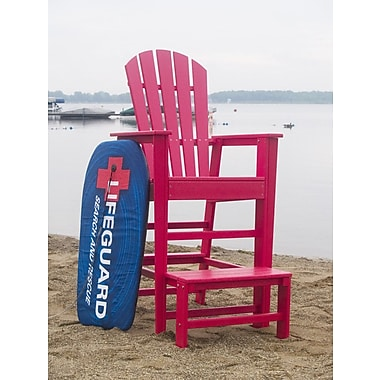 POLYWOOD South Beach 30'' Bar Stool; Sunset Red