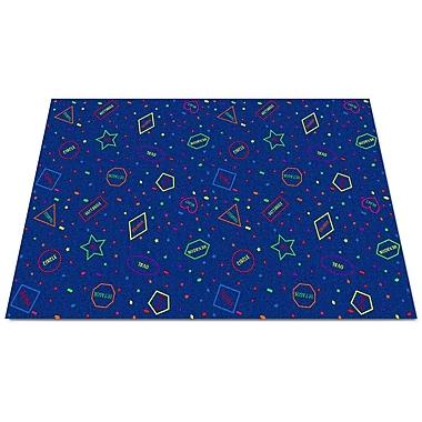 Kid Carpet I Know My Shapes Blue Area Rug; Rectangle 4' x 6'