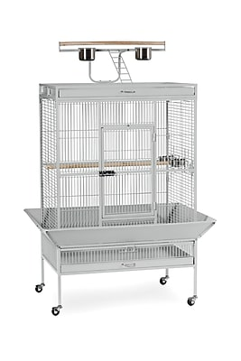 Prevue Hendryx Signature Series X-Large Bird Cage; Pewter