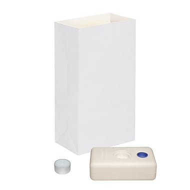 Luminarias Candle Luminaria Kit (Set of 12); White