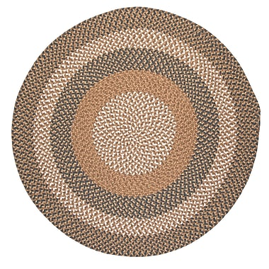 Colonial Mills Fabric Multi Blue/Beige Area Rug; Round 3'