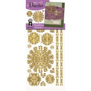 Dazzles Medallion Stickers; Gold
