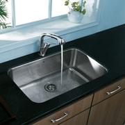 Vigo 30 inch Undermount Single Bowl 18 Gauge Stainless Steel Kitchen Sink; No