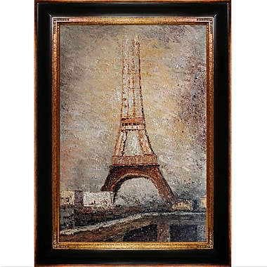 Tori Home The Eiffel Tower by Georges-Pierre Seurat Framed Painting Print