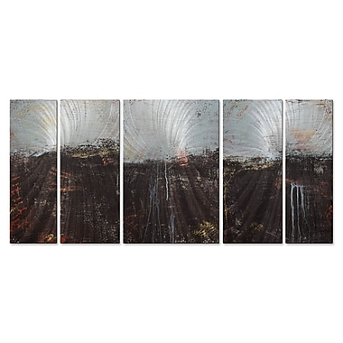 All My Walls 'Lithosphere 49' by Hilary Winfield 5 Piece Graphic Art Plaque Set