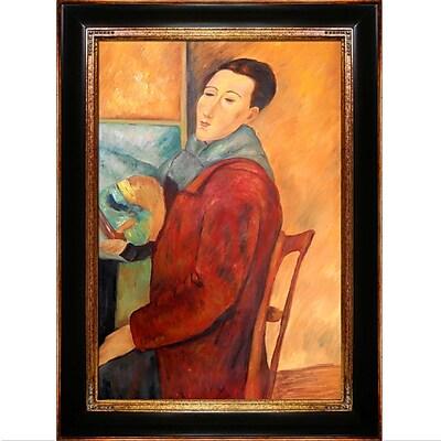 Tori Home Modigliani, Self-Portrait by Amedeo Modigliani Framed Painting
