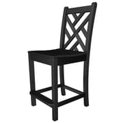 POLYWOOD  Chippendale 24'' Bar Stool; Black