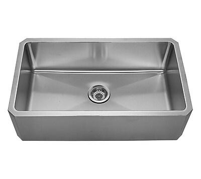 Whitehaus Collection Noah's 31.63'' x 18.13'' Front - Apron Single Bowl Undermount Kitchen Sink