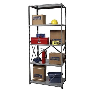 Hallowell Hi-Tech Shelving Duty Open Type 4 Shelf Shelving Unit Starter; 87'' H x 36'' W x 24'' D