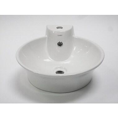 EAGO Above Mount Circular Vessel Bathroom Sink w/ Overflow