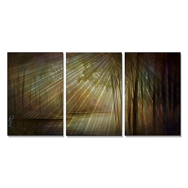All My Walls 'Hushed Creek' by Michael Lang 3 Piece Painting Print Plaque Set