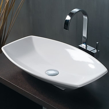 WS Bath Collections Ceramica Ceramic Oval Vessel Bathroom Sink