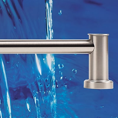 Alno Infinity Wall Mounted Towel Bar; Satin Nickel