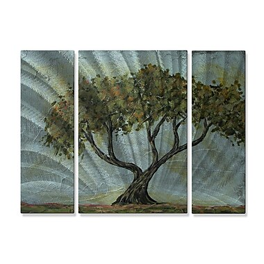 All My Walls 'Cypress Tree' by Danlye Jones 3 Piece Painting Print Plaque Set