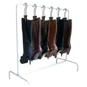 Boottique, Inc. 6-Hanger Boot Rack; White/Black