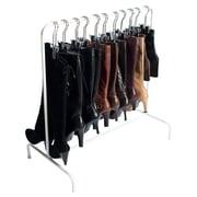 Boottique, Inc. 6-Hanger Boot Rack; White/Silver