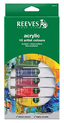 Reeves Acrylic Paint (Set of 10) WYF078276234147