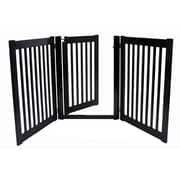 Dynamic Accents Amish Handcrafted 32'' 3 Panel Walk-Through Free Standing Gate; Black