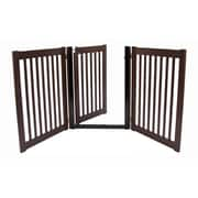 Dynamic Accents Amish Handcrafted 32'' 3 Panel Walk-Through Free Standing Gate; Mahogany