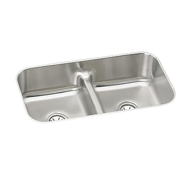 Elkay Lustertone 33'' x 18'' Double Basin Undermount Kitchen Sink