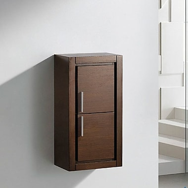 Fresca 15.75'' W x 32'' H Wall Mounted Cabinet; Wenge Brown