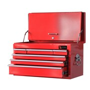 Excel Top Chest w/ 6 Drawers; Red