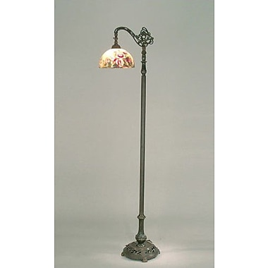 Dale Tiffany Glynda Turley Rose Reading 63'' Arched Floor Lamp