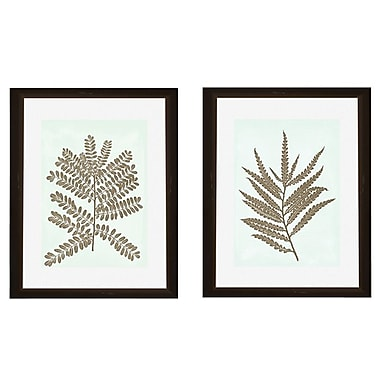 PTM Images Leaves Silhoutte 2 Piece Framed Graphic Art Set