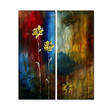 All My Walls 'Soft Touch' by Danlye Jones 2 Piece Painting Print Plaque Set