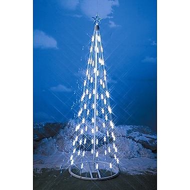 Homebrite Solar String Light Cone Tree Christmas Decoration w/ White Lights