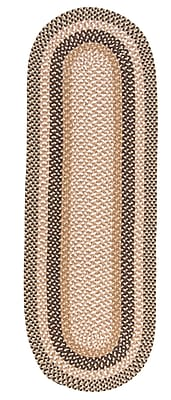 Colonial Mills Fabric Multi Brown Area Rug; Runner 2' x 10'