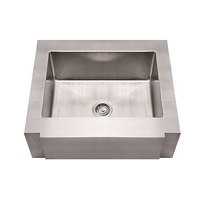Whitehaus Collection Noah's 30'' x 26.25'' Commercial Single Bowl Farmhouse Undermount Kitchen Sink