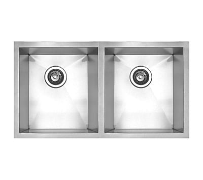Whitehaus Collection Noah's 29.5'' x 17.38'' Chefhaus Double Bowl Undermount Kitchen Sink